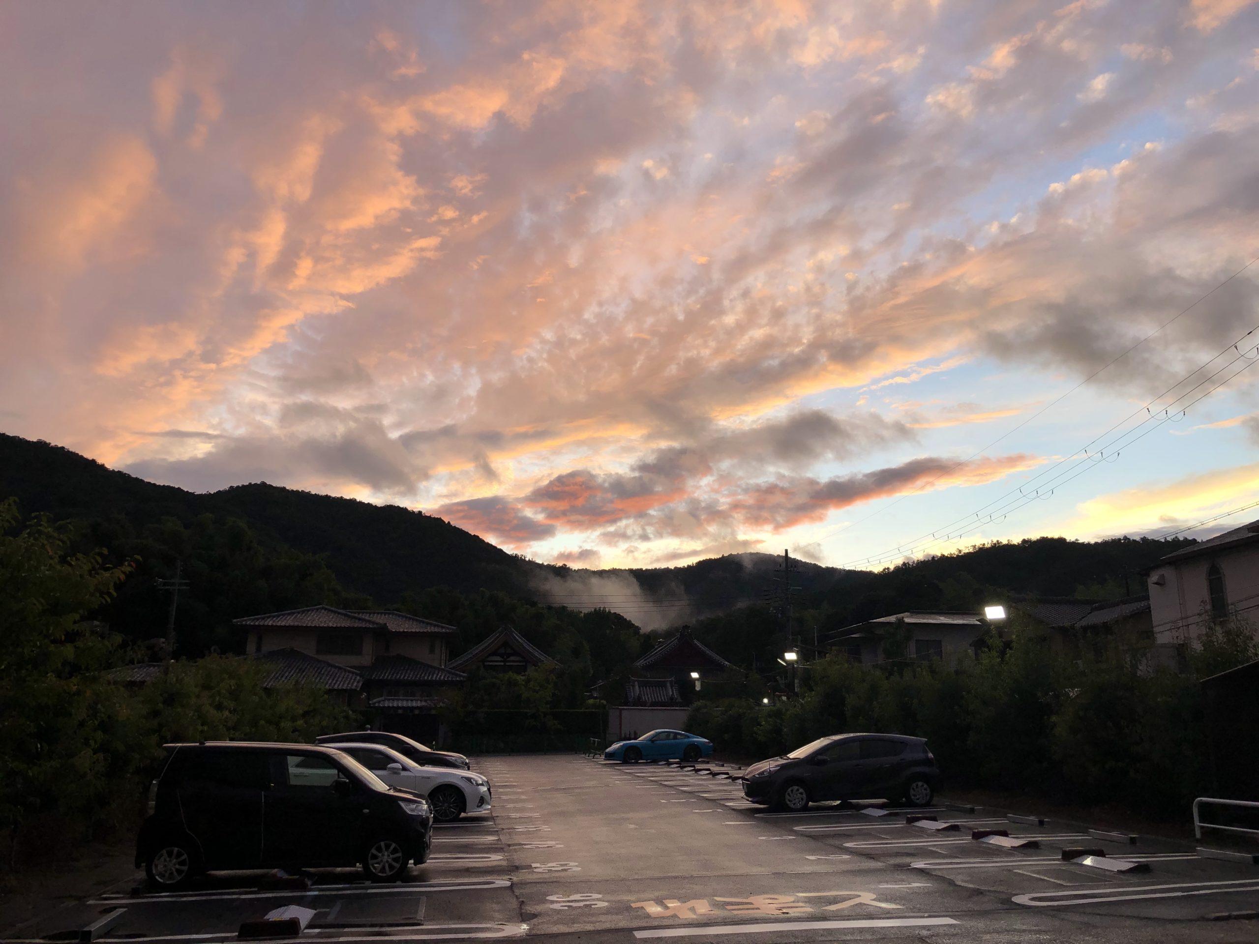 京都に二重の虹🌈