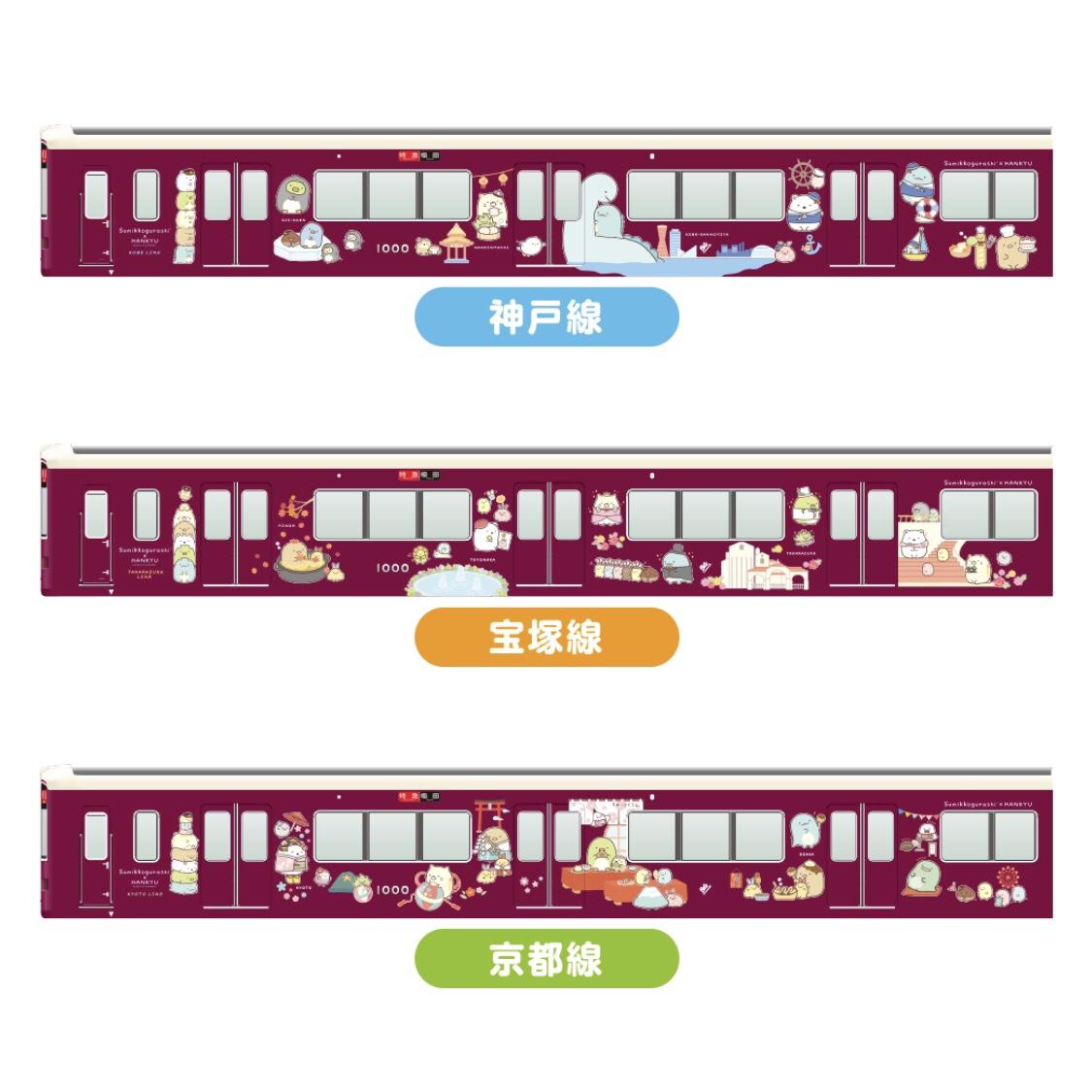 すみっコぐらし×阪急電車