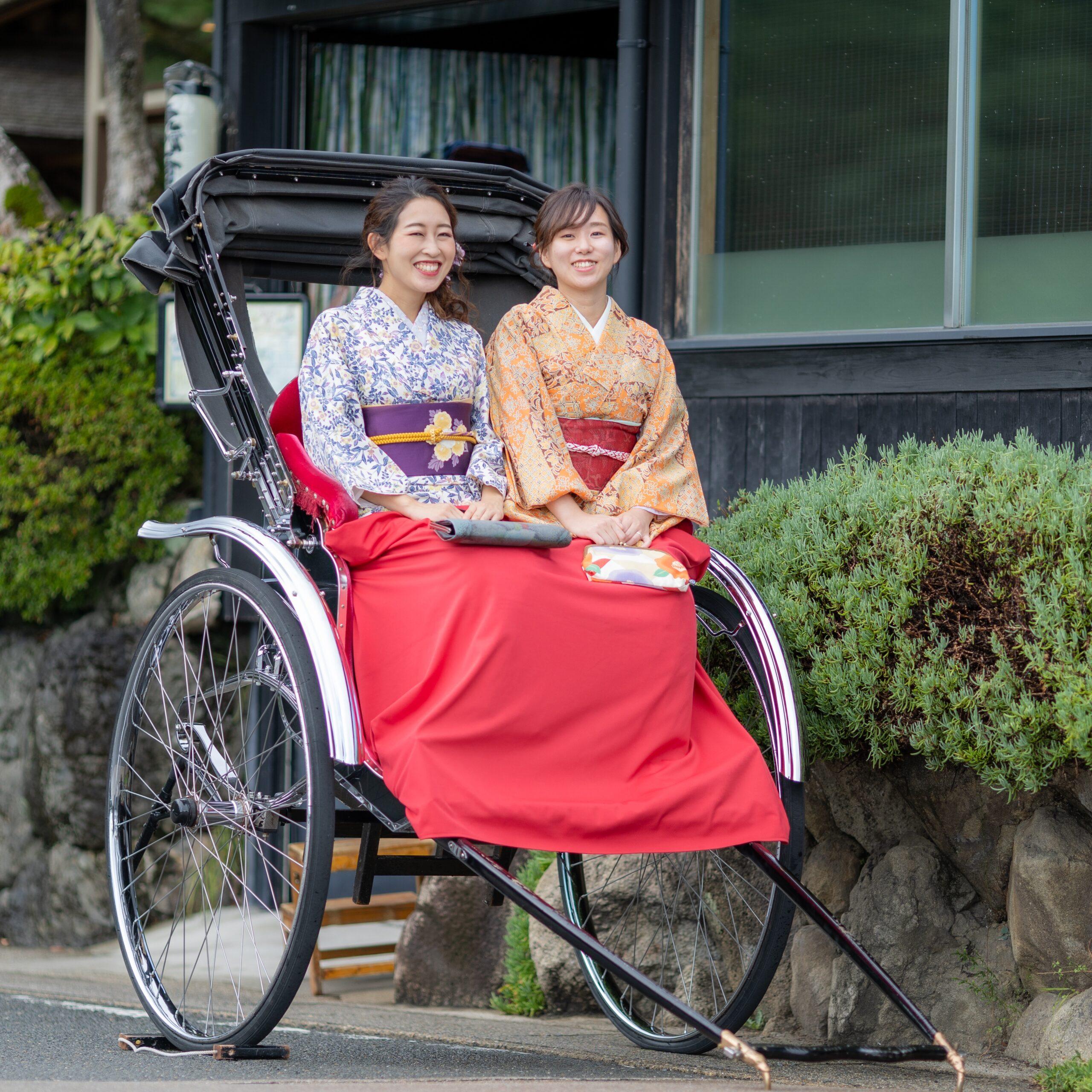 レンタル着物と人力車で京都を楽しむプラン